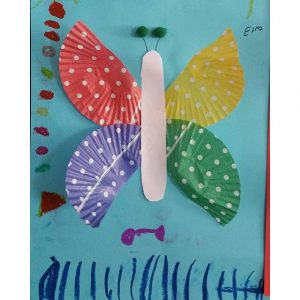 cupcake liner butterfly craft