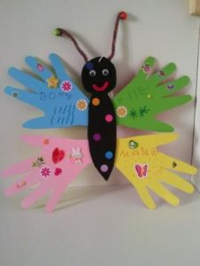 handprint butterfly craft