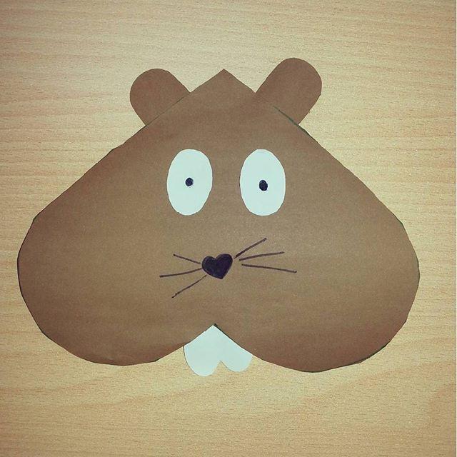 heart squirrel craft