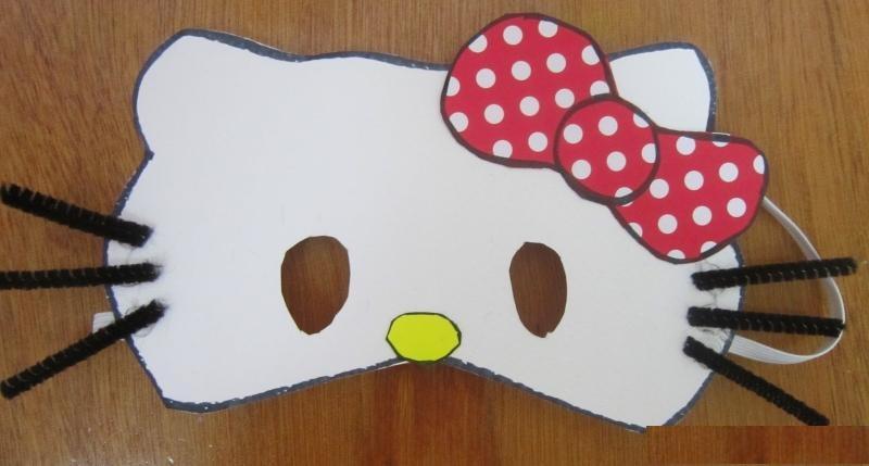 hello kitty mask craft idea