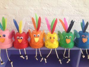 paper cup bird craft