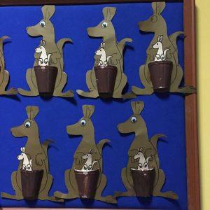 paper cup kangaroo craft