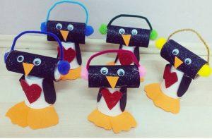 paper cup penguin craft
