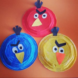 paper plate angry bird craft