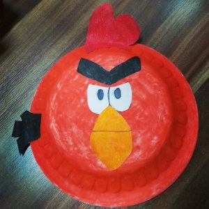 paper plate angry birds craft idea