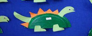 paper plate dinosaur craft idea