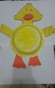 paper plate duck craft idea