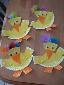 paper plate duck craft idea for kids