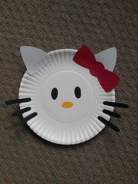 paper plate kitty craft