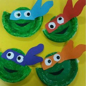 paper plate ninja turtle craft