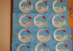 paper plate swan craft