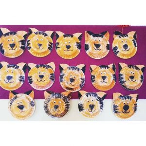 paper plate tiger craft