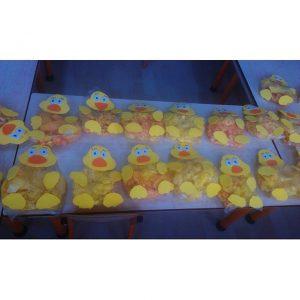 plastic bag duck craft idea for kids