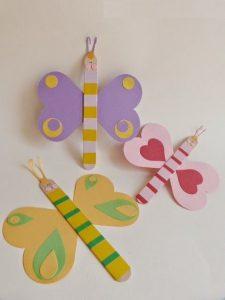 popsicle stick butterfly craft idea (2)