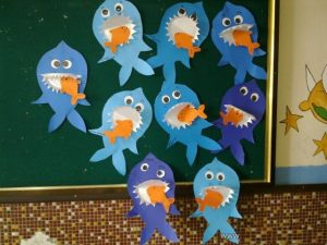 shark craft idea for preschooler