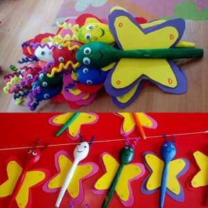 wooden spoon butterfly craft (1)