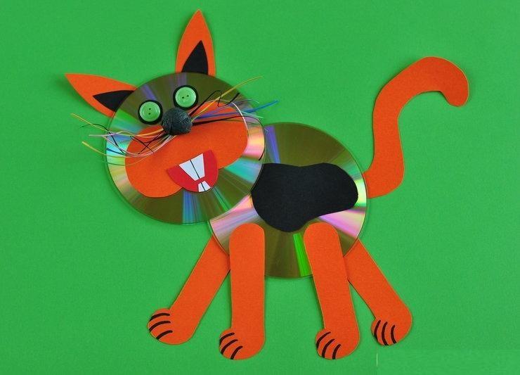 cd animals craft idea for kids