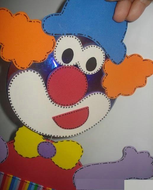cd clown craft idea for kids (2)