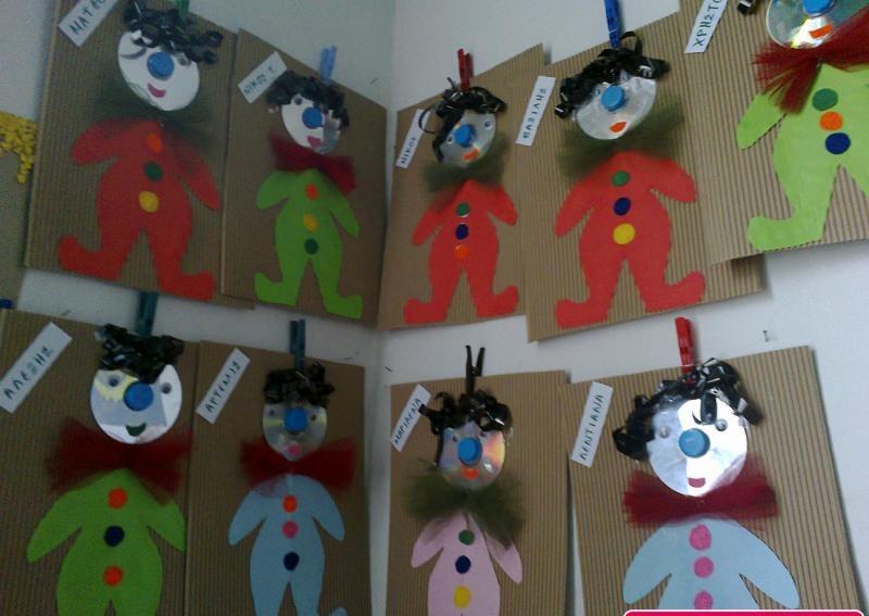 cd clown craft idea for kids