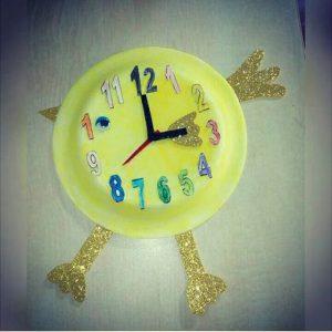 chick clock craft