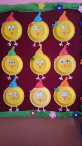 free paper plate chick craft