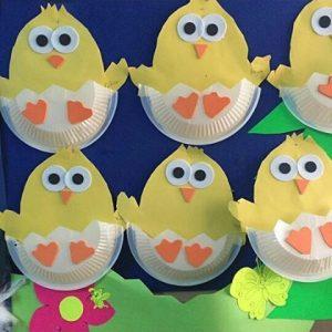 paper plate chick craft idea for preschoolers (1)