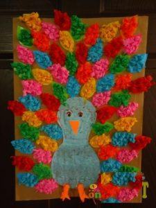 peacock craft idea for preschoolers
