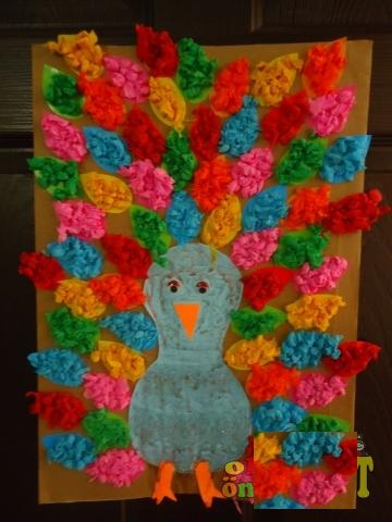 peacock craft idea for preschoolers