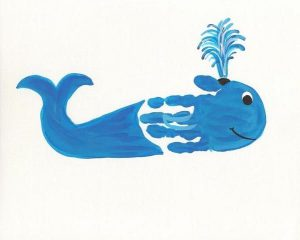 Hand-Print-whale-craft-idea