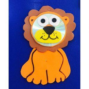 cd lion craft idea for kids