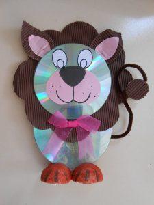 cd lion craft idea for preschoolers