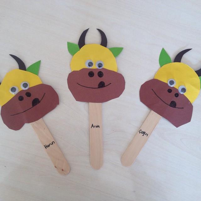 cow puppet craft