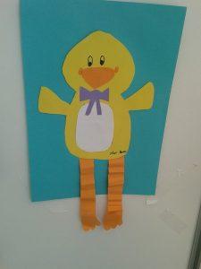 duck craft idea for preschoolers