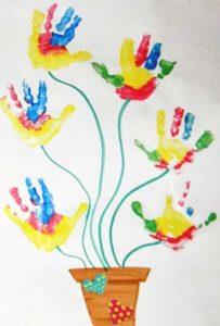 free flower craft idea for preschoolers