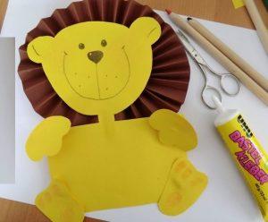free lion craft idea