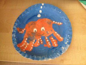 handprint octopus craft idea