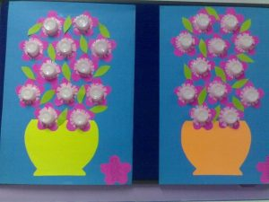 paper cup flower craft idea
