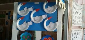 paper plate swan craft idea for kids