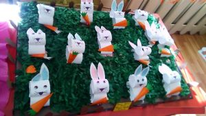 paper roll bunny craft