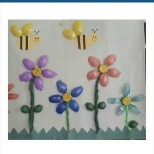 plastic poon flowers