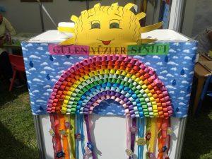 rainbow buleltin board