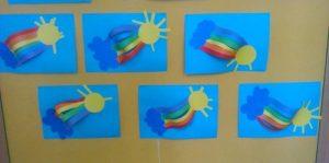 rainbow craft idea for preschoolers