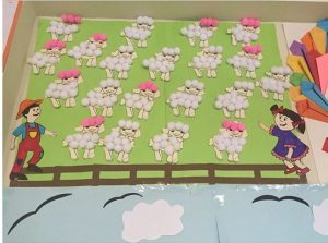 sheep bulletin board