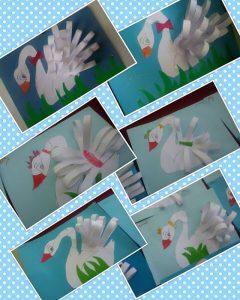 swan craft idea for kids
