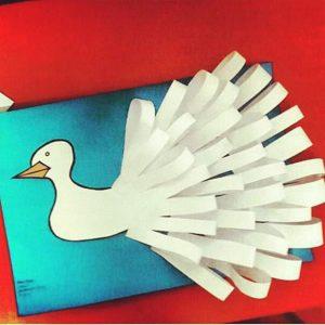 swan craft idea for preschoolers