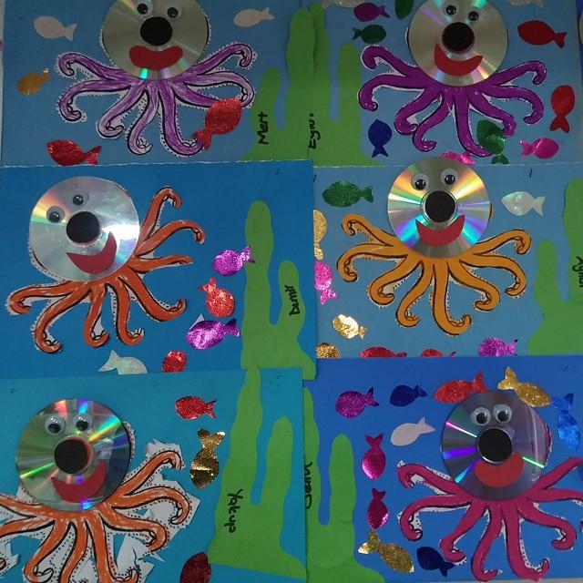 cd-octopus-craft-idea-for-kids