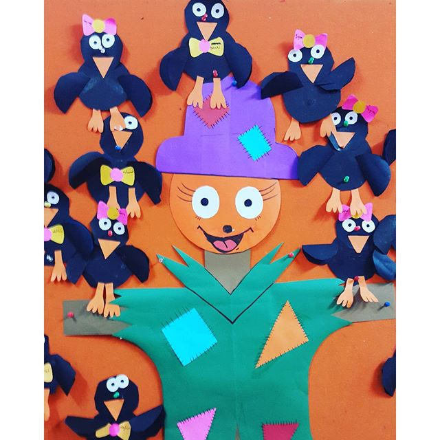 fall bulletin board idea for kids