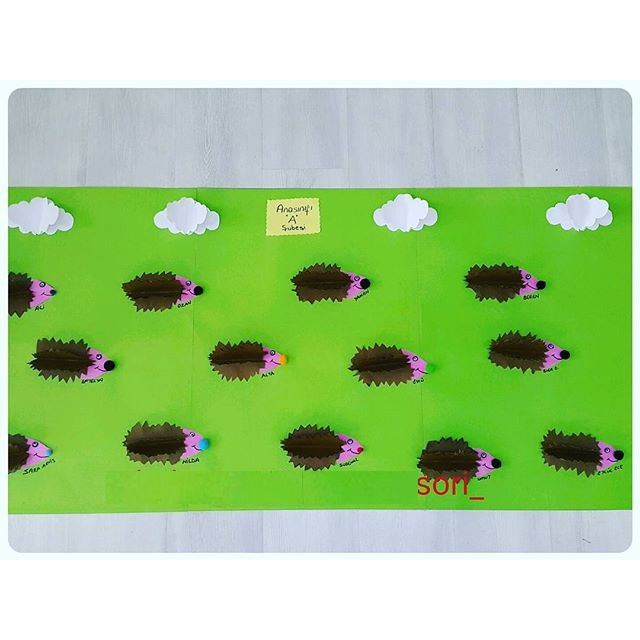 hedgehog bulletin board