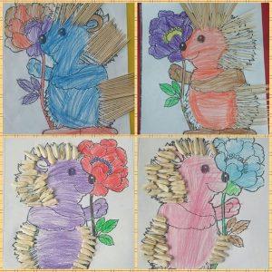 hedgehog craft idea for kids (4)