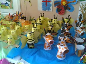 paper cup animals craft idea for kids